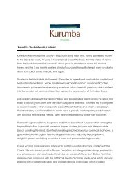 Kurumba - The Maldives in a nutshell - Kurumba Maldives