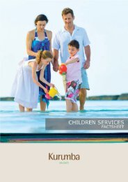 Children Services - Kurumba Maldives