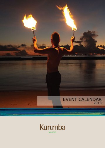 2013 Event Calendar - Kurumba Maldives