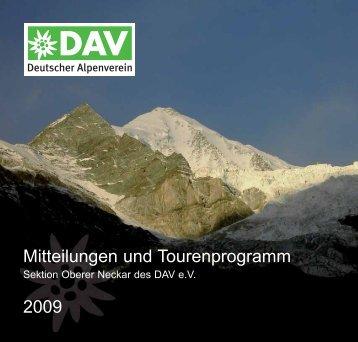 Berichte der Bergsteigergruppen - Oberer Neckar