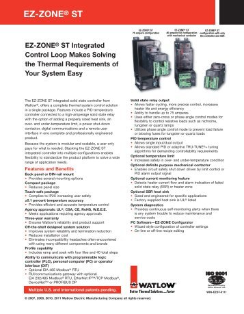 EZ-ZONE ST - Thermal Solutions of Texas – Heaters – Sensors ...
