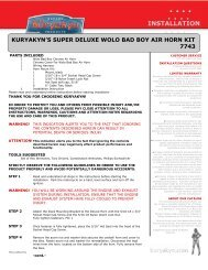 kuryakyn's super deluxe wolo bad boy air horn kit ... - Kuryakyn USA