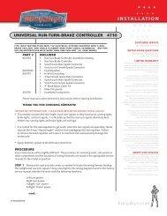Installation Guide - CruiserCustomizing