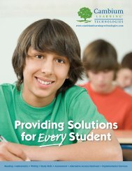 Providing Solutions for Student Every - Kurzweil Educational Systems