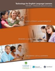 Technology for English Language Learners - Kurzweil Educational ...