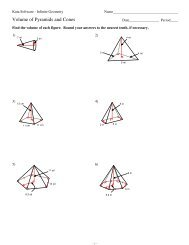 10 Surface Area Of Pyramids And Cones Kuta Software