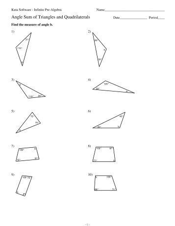 angle sum of triangles and quadrilaterals kuta software. Black Bedroom Furniture Sets. Home Design Ideas