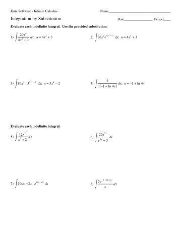 05 Integration Log Rule And Exponentials Kuta Software