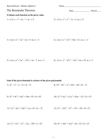 Free Printable Math Worksheets Kuta Software - K5 Worksheets