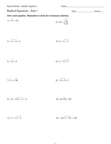 Simplifying Radicals Imaginary Numbers Worksheet Kuta Software ...