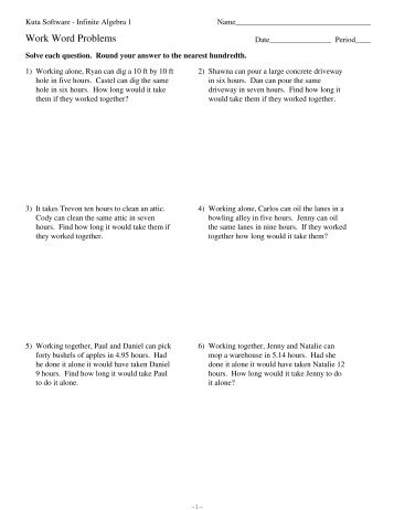 Factoring Word Problems Worksheet Kuta