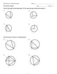 11-Inscribed Angles - Kuta Software