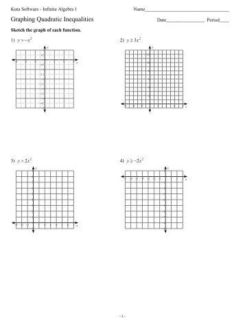 Graphing Quadratic Inequalities Worksheet. Worksheets