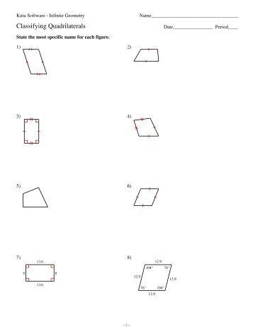 6 properties of trapezoids kuta software. Black Bedroom Furniture Sets. Home Design Ideas