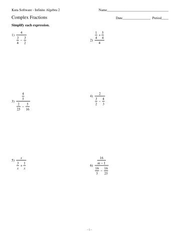 Worksheets Complex Fractions Worksheet fractions worksheets delibertad complex delibertad