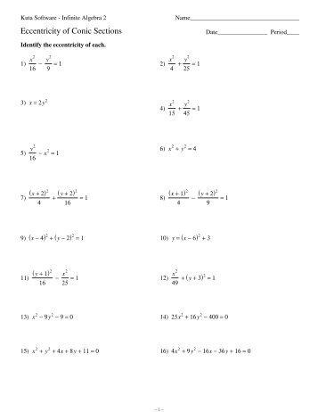 Vertex Form of Parabolas - Kuta Software