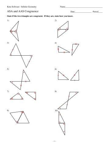 Worksheet: Triangle Congruence Proofs - AAS & ASA Postulates ...