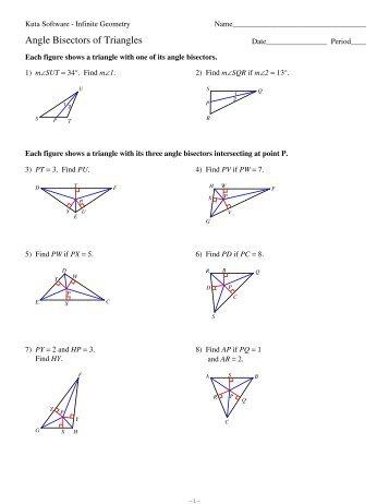 Printables Angle Bisector Worksheet perpendicular bisector worksheet kuta intrepidpath angle worksheets