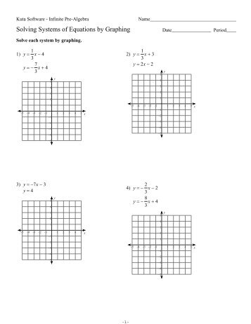 solving systems of equations by graphing worksheet free worksheets library download and print. Black Bedroom Furniture Sets. Home Design Ideas