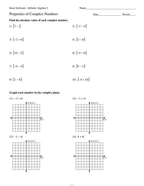 complex numbers kuta on