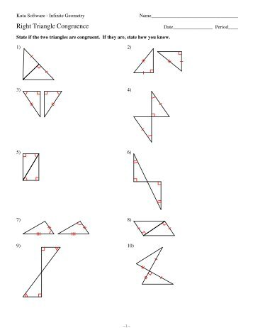 Snap Right Triangle Congruence Worksheet Pdf Right Triangle Trig