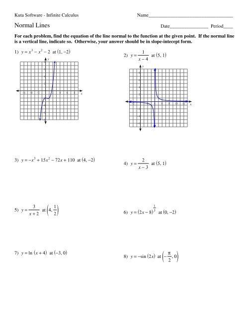 04 - Normal Lines - Kuta Software