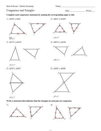 Right Triangle Congruence Worksheet Kuta - Worksheets