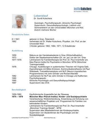 Curriculum vitae - Institut Kutschera