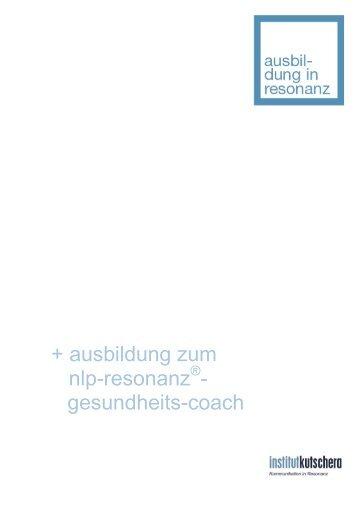 gesundheits-coach - Institut Kutschera