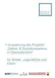 """+ Auswertung des Projekts """"Selbst ... - Institut Kutschera"""