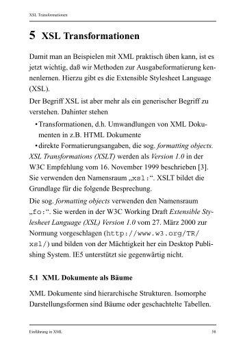 5 XSL Transformationen - Praktische Informatik Universität Kassel