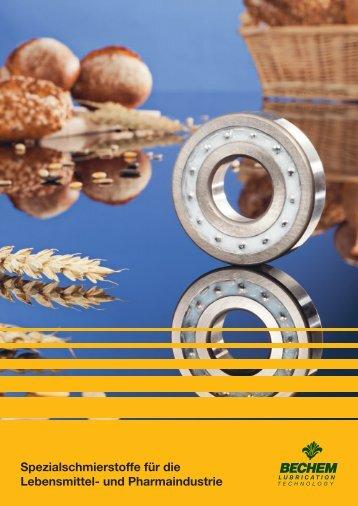 Spezialschmierstoffe für die Lebensmittel- und Pharmaindustrie