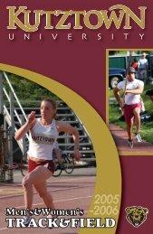 2005-06 Track & Field Media Guide - Kutztown University