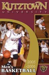 2005-06 Men's Basketball Media Guide - Kutztown University