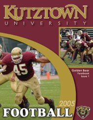 2005 Football Yearbook - Kutztown University