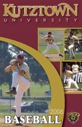 2006 Baseball Media Guide - Kutztown University