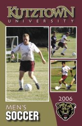 Men's Soccer - Kutztown University