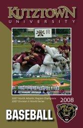 2008 Baseball Media Guide - Kutztown University