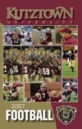 2007 Kutztown University Football Schedule