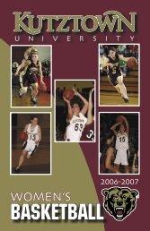 2006-07 Women's Basketball Media Guide - Kutztown University