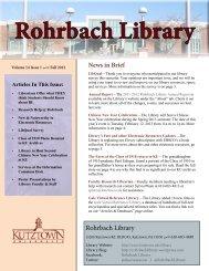 Rohrbach Library - Kutztown University