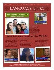 Summer 2013 Language Links - Kutztown University