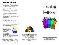 Evaluating Textbooks - Kutztown University