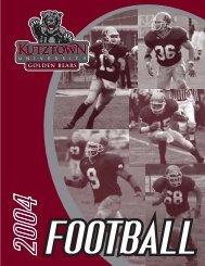 2004 Football Media Guide (.PDF) - Kutztown University