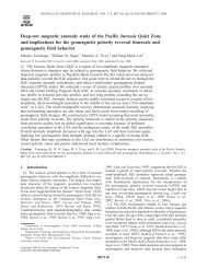 Deep-tow magnetic anomaly study of the Pacific Jurassic Quiet Zone ...