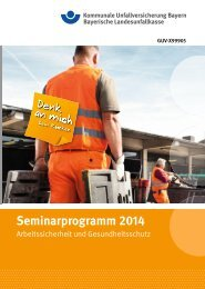 Seminarprogramm 2014 - Kommunale Unfallversicherung Bayern