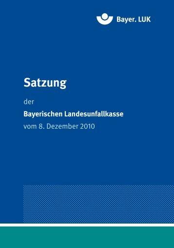 Satzung - Kommunale Unfallversicherung Bayern