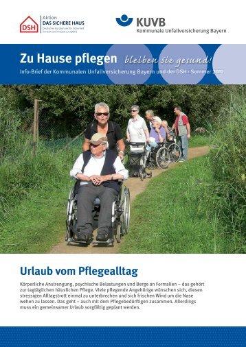 Zu Hause pflegen - Kommunale Unfallversicherung Bayern