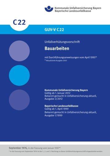 Bauarbeiten - Kommunale Unfallversicherung Bayern