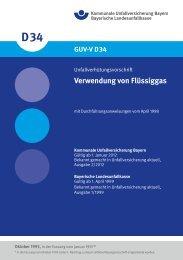 Verwendung von Flüssiggas - Kommunale Unfallversicherung Bayern